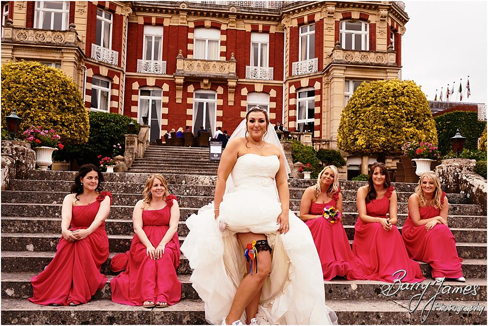 Fun portraits with the bridal party at Chateau Impney at Droitwich by Wedding Photographer Barry James