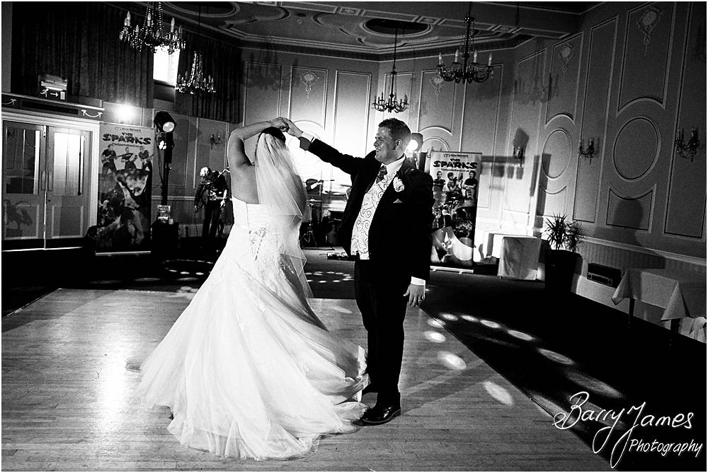 Creative photographs of the first dance at Chateau Impney at Droitwich by Wedding Photographer Barry James