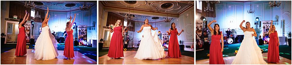Capturing the fun of the wedding reception at Chateau Impney at Droitwich by Wedding Photographer Barry James