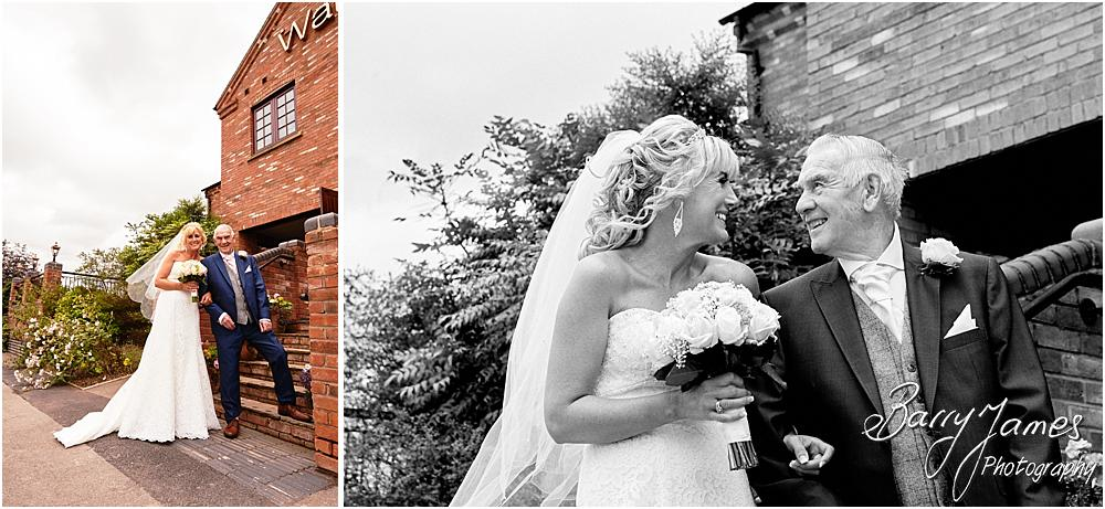 Creative photographs as the Bridal party arrives at The Crows Nest at Barton Marina by Wedding Photographer Barry James
