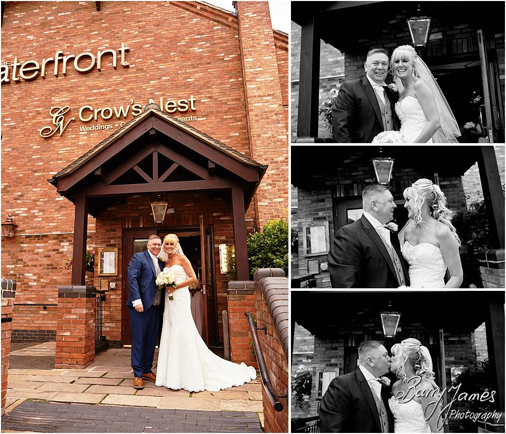 Creative wedding photographs at The Crows Nest at Barton Marina by Wedding Photographer Barry James