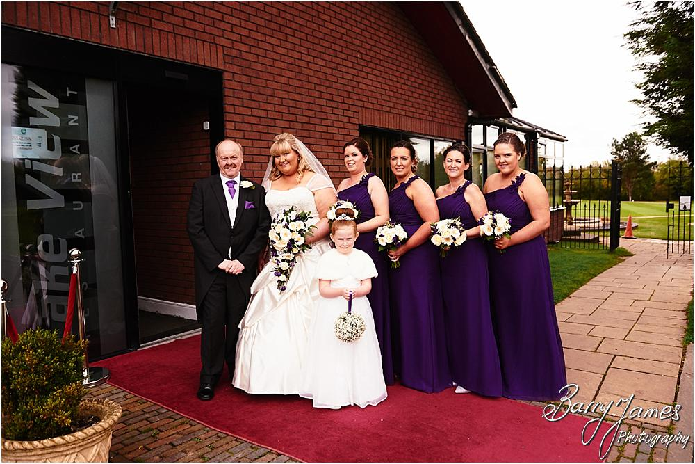 Creative natural photographs of the bridal party's arrival for the wedding at Calderfields in Walsall by Walsall Wedding Photographer Barry James
