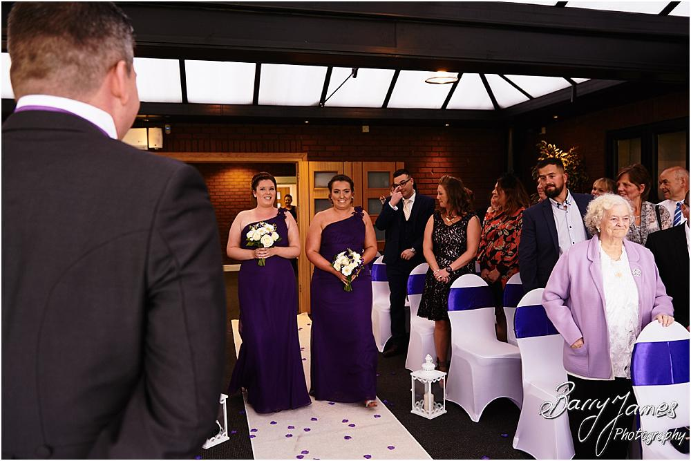 Unobtrusive candid photographs that capture the beautiful wedding ceremony at Calderfields in Walsall by Walsall Wedding Photographer Barry James