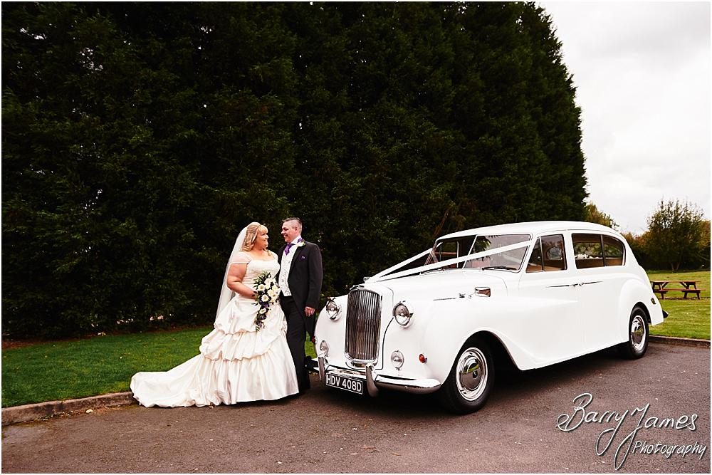 Creative fun photographs with the fabulous wedding cars from Platinum Cars for the wedding at Calderfields in Walsall by Walsall Wedding Photographer Barry James