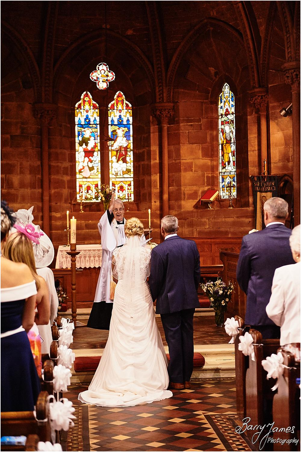 Unobtrusive photographs of the beautiful wedding ceremony at St Johns Church in Hammerwich by Burntwood Wedding Photographer Barry James