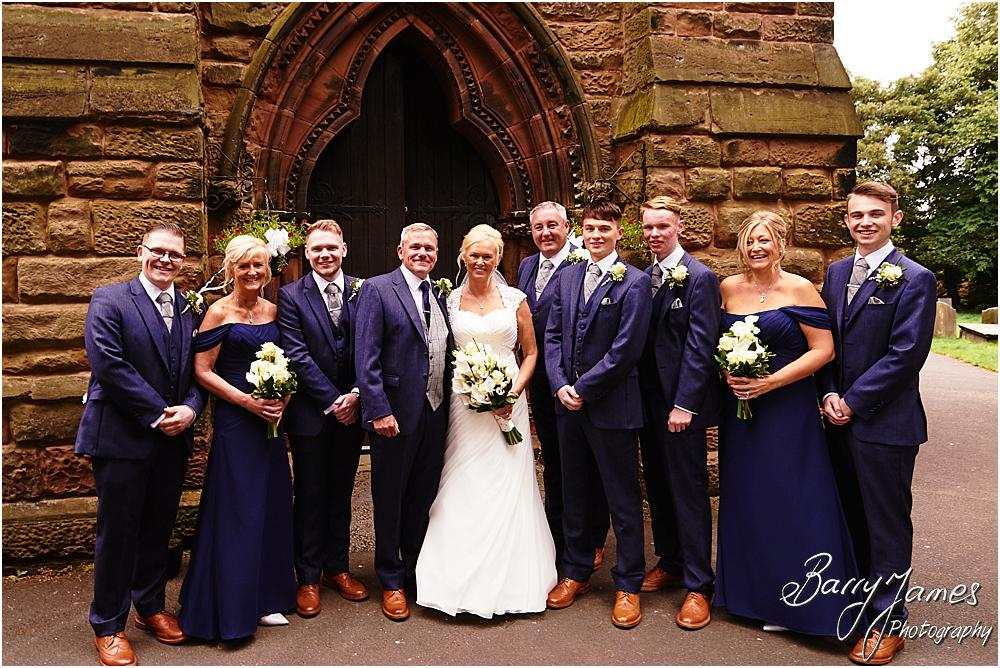 Natural fun photographs of the couple and the bridal party at St Johns Church in Hammerwich by Burntwood Wedding Photographer Barry James