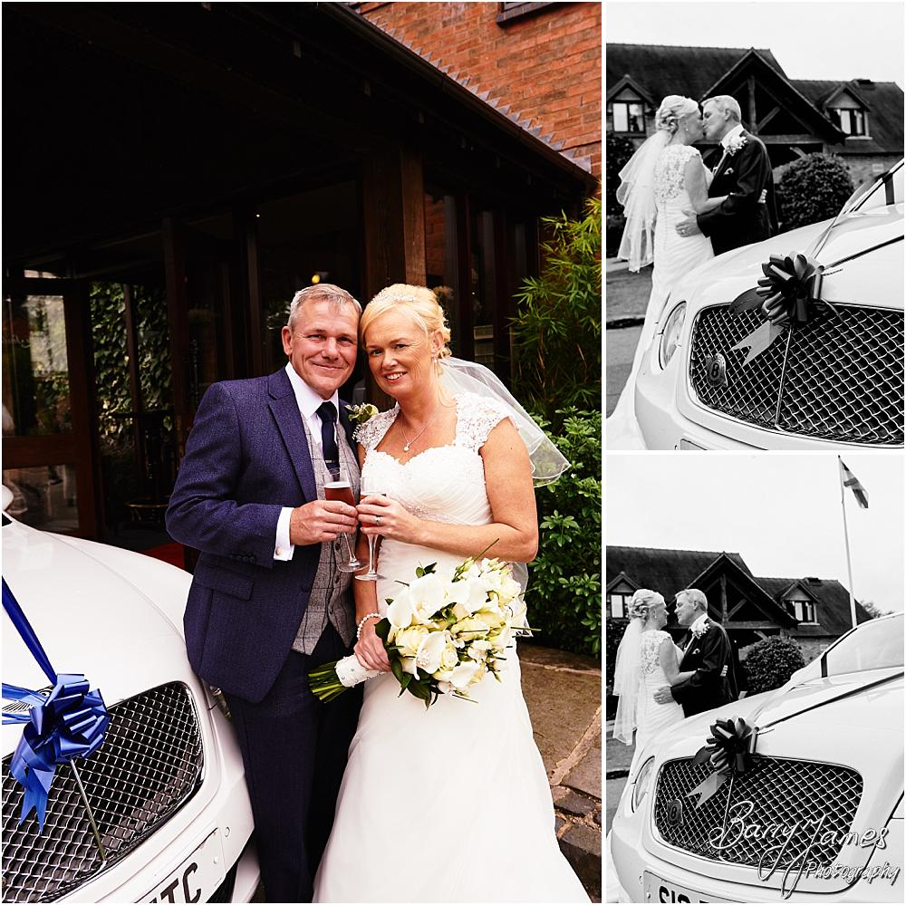 Beautiful wedding transport from Finshing Touch Cars at The Moat House in Acton Trussell by Hammerwich Wedding Photographer Barry James