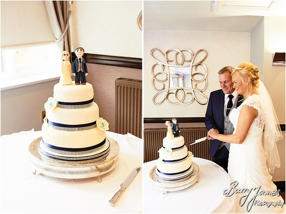 Photographs of the beautiful wedding breakfast designed by Bespoke Creations Stafford at The Moat House in Acton Trussell by Hammerwich Wedding Photographer Barry James