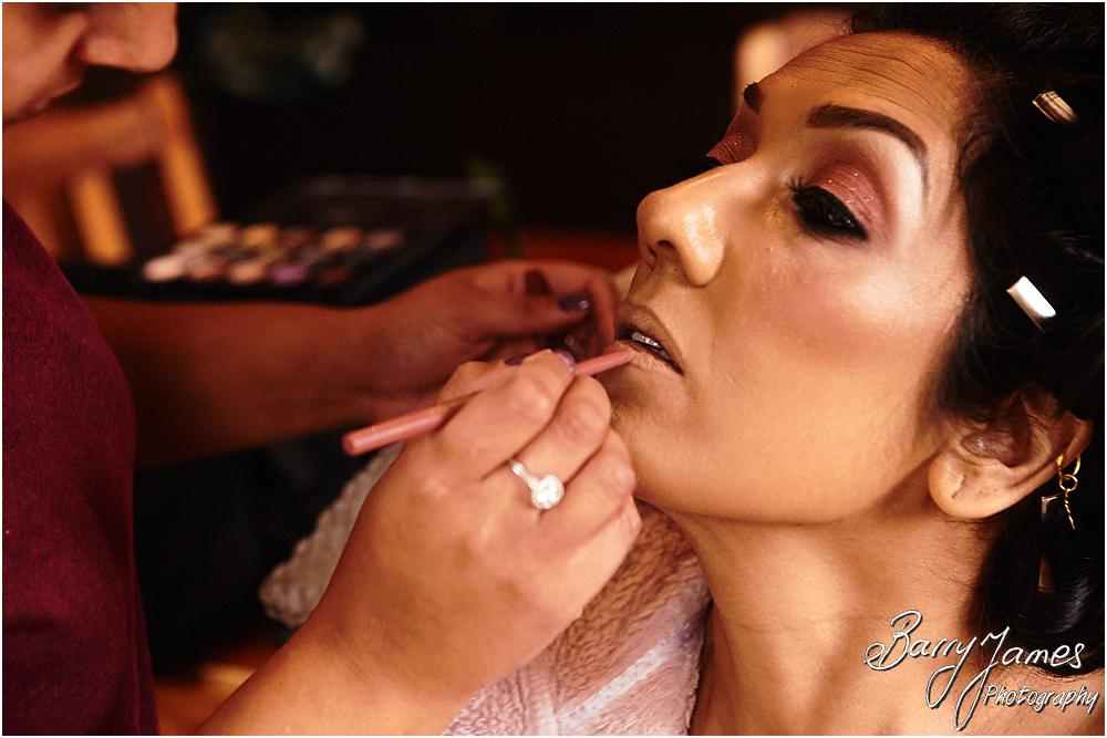 Capturing the final touches to the bridal preparations at Oak Farm Hotel in Cannock by Cannock Wedding Photographer Barry James