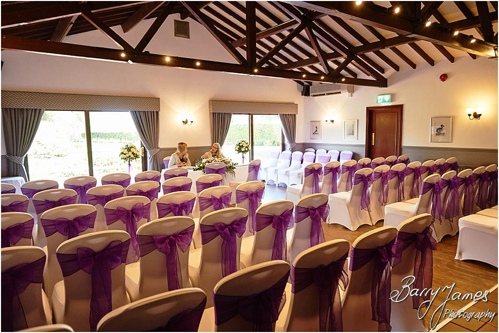 Stunning setting for a wedding decorated to perfection at Oak Farm Hotel in Cannock by Cannock Wedding Photographer Barry James