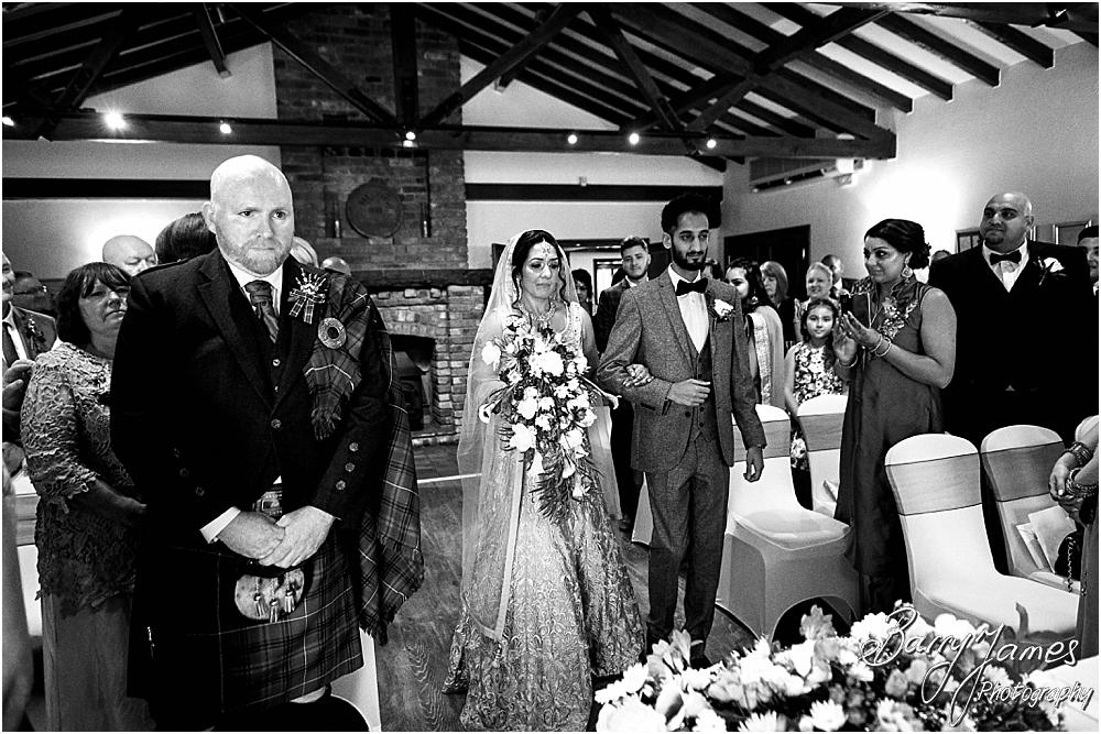 Photographs of the emotional ceremony at Oak Farm Hotel in Cannock by Cannock Wedding Photographer Barry James