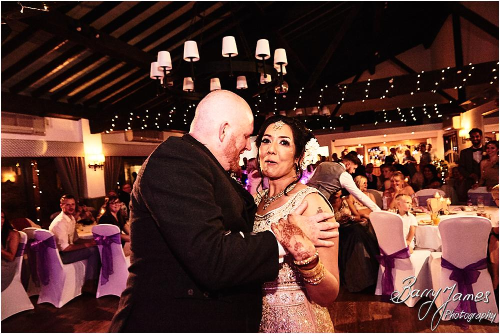 Creative photographs showing the life and wonderful feeling of the wedding reception as the party got truly underway at Oak Farm Hotel in Cannock by Cannock Wedding Photographer Barry James