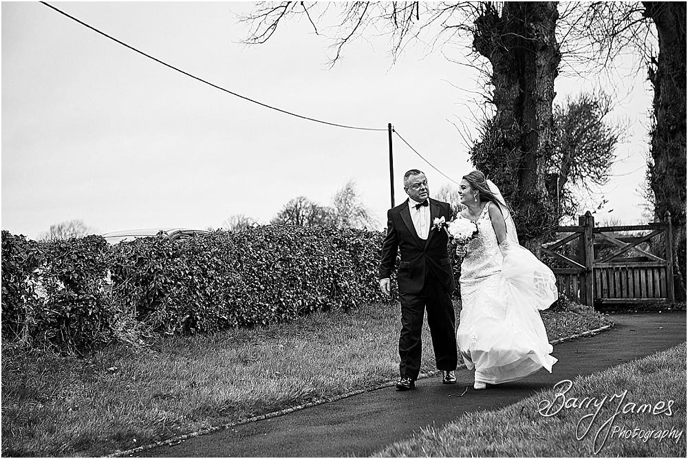 Capturing the arrival of our bridal party at St James Church + The Moat House in Acton Trussell by Stafford Wedding Photographers Barry James