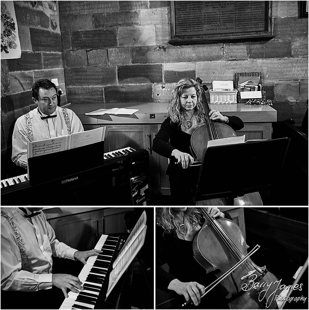 Unobtrusive storytelling photographs of the wedding ceremony at St James Church + The Moat House in Acton Trussell by Stafford Wedding Photographers Barry James