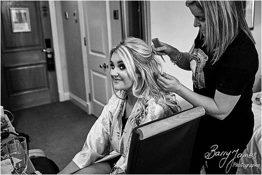 Creative relaxed photography of the bridal preparations at The Moat House in Acton Trussell by Staffordhire Wedding Photographers Barry James