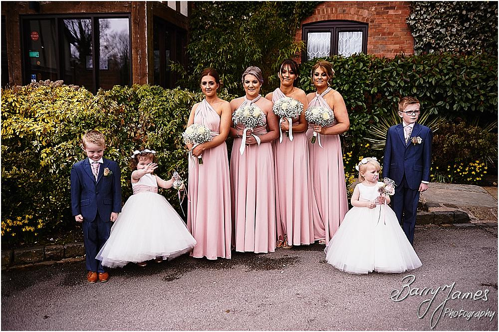 Contemporary portraits of the bridal party at The Moat House in Acton Trussell by Staffordhire Wedding Photographers Barry James