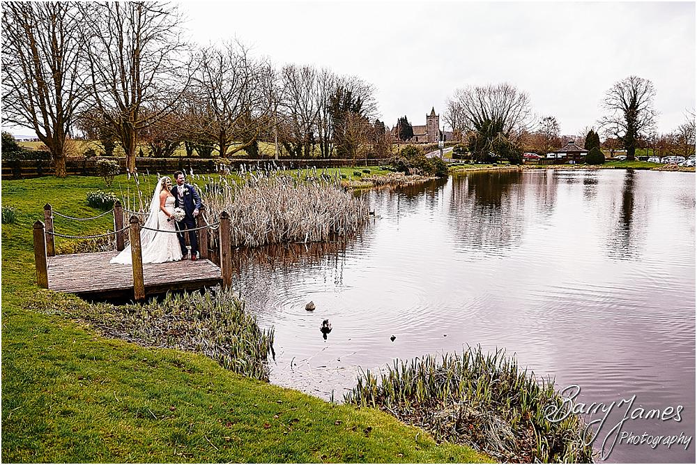 Stunning portraits of the bride and groom around the stunning grounds at The Moat House in Acton Trussell by Staffordhire Wedding Photographers Barry James