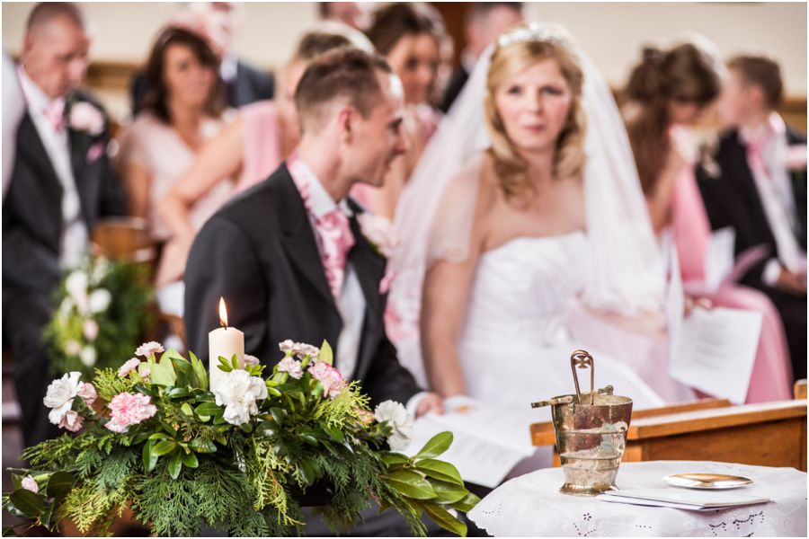 Candid and creative wedding photography at St Annes Roman Catholic Church in Streetly by Affordable Wedding Photographer Barry James
