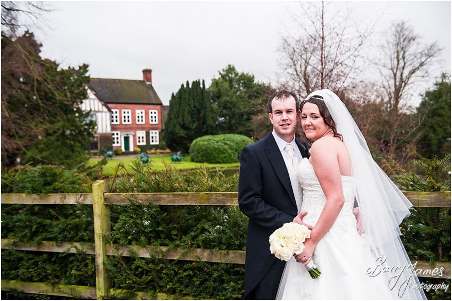 Creative contemporary winter wedding photographs at The Moat House in Stafford by Professional Wedding Photographer Barry James