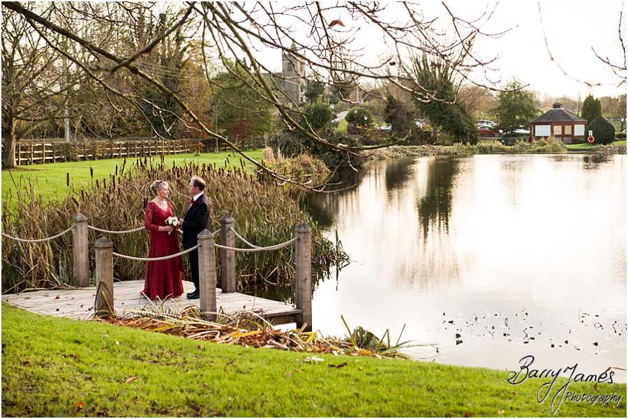 Intimate winter wedding photographs at The Moat House in Acton Trussell by Preferred Wedding Photographers Barry James