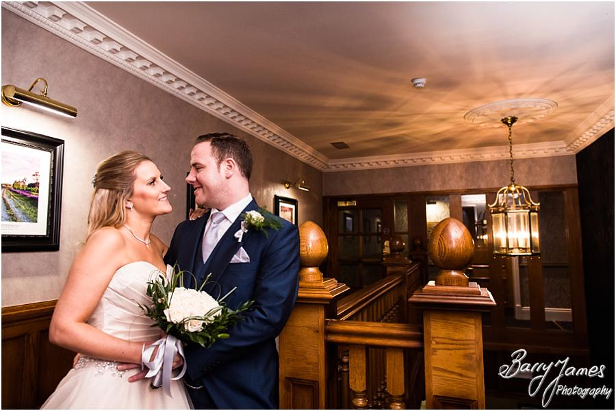 Timeless portraits of the bride and groom around the stunning setting of The Moat House in Acton Trussell by Wolverhampton Wedding Photographer Barry James