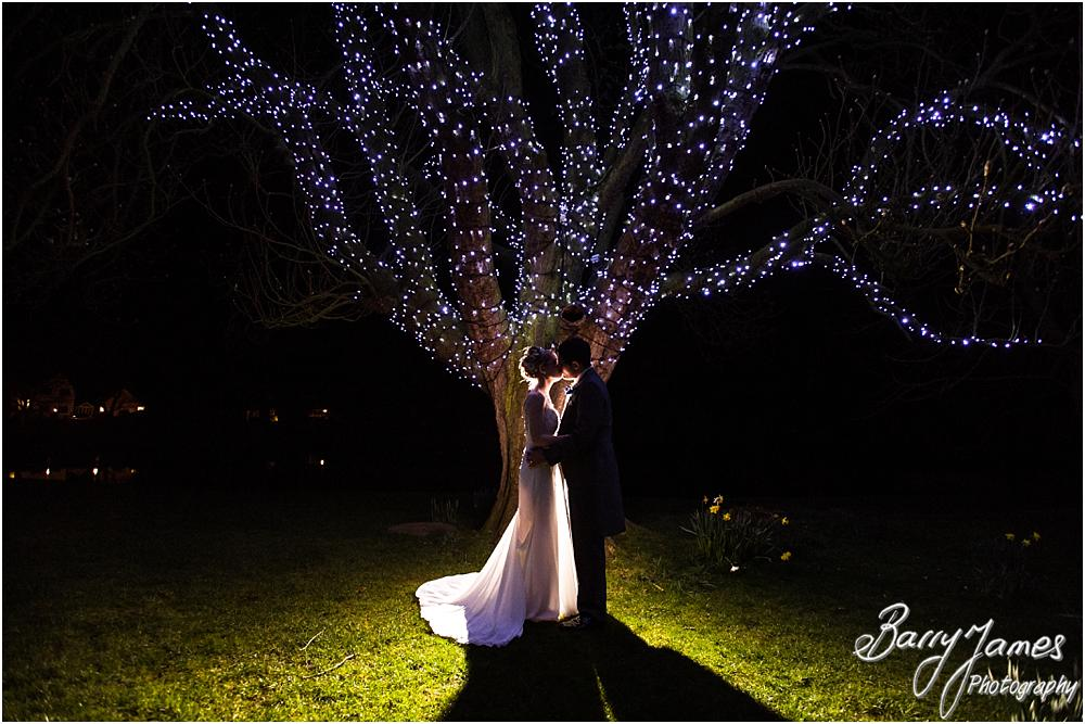 Creative night portraits illuminated beautifully at The Moat House in Acton Trussell by Acton Trussell Wedding Photographer Barry James